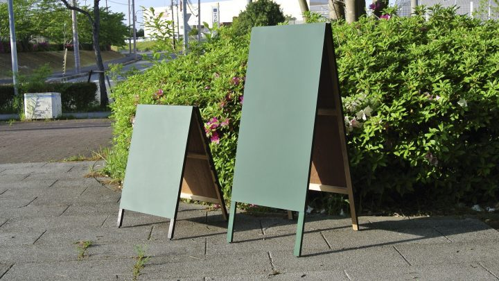 木製A型黒板(グリーン)
