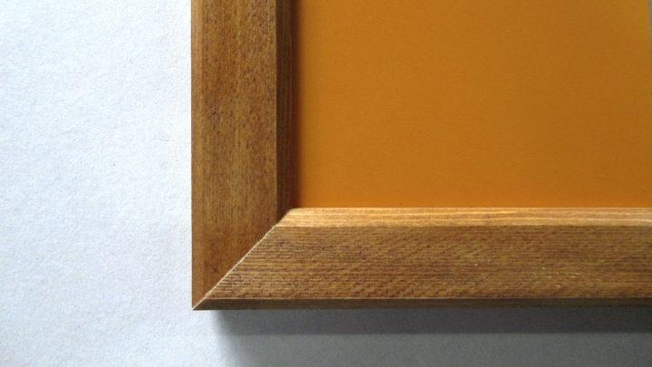 オレンジ黒板