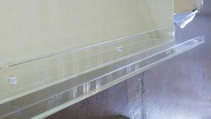 透明ホワイトボード用粉受け1056