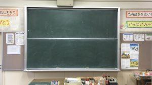 古くなった黒板