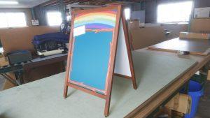 黒板・DG印刷黒板でオリジナルA型看板のアイキャッチ画像