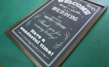 メニューボード結婚式1