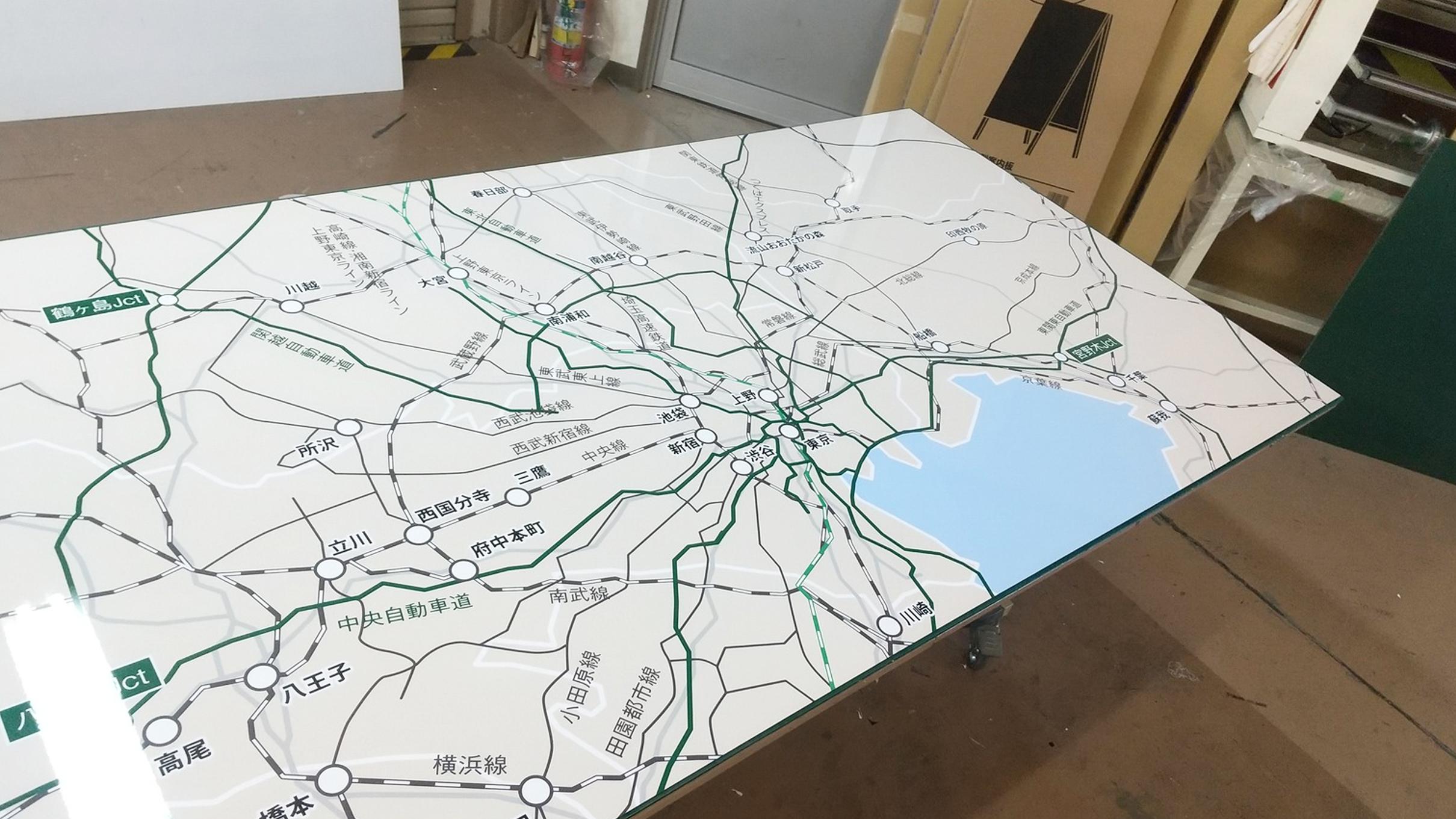 地図入りホワイトボードの製作のアイキャッチ画像